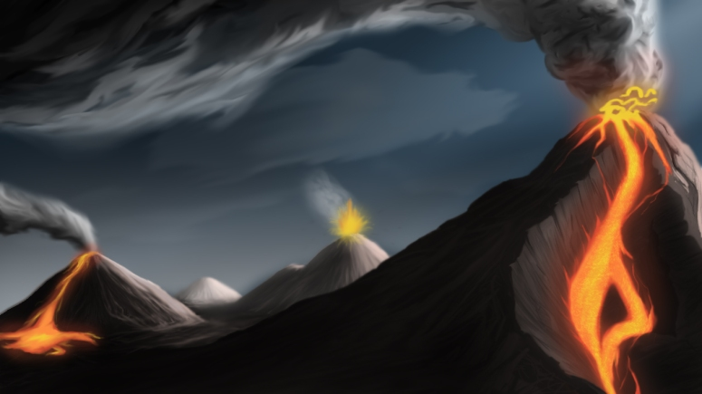 A1_Matte-Painting_Volcano